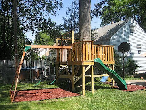 25 best ideas about playground slide on pinterest - Como hacer un columpio de madera ...