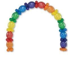 Me encanta esta guirnalda de globos si quieres ver como - Como hacer una fiesta infantil economica ...