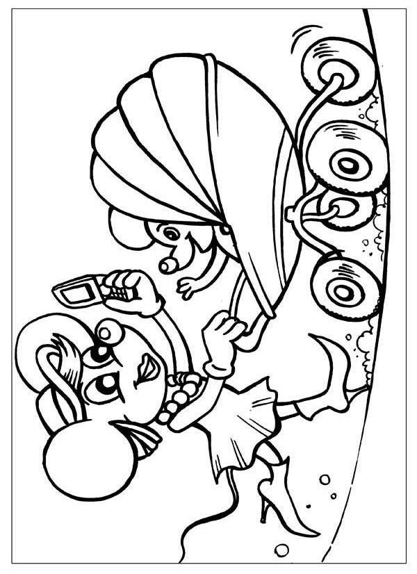 разрисовки для детей из мультфильмов, бесплатно скачать ...