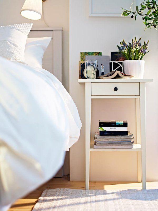 Unique Ikea hemnes white stain nightstands