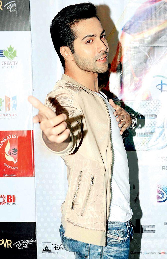 Varun Dhawan at ABCD 2 promotions.