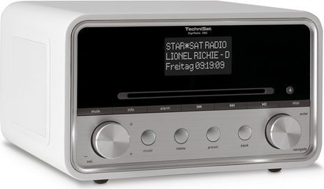 TechniSat DigitRadio 580 (Weiss, DAB+, Bluetooth, USB Host, WLAN, CD, Spotify)