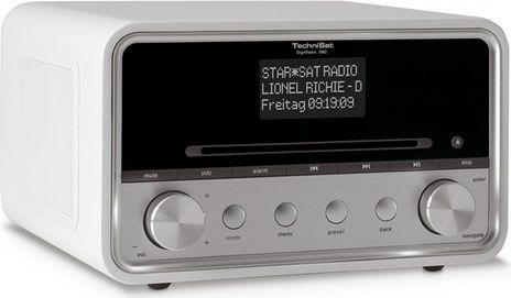 TechniSat DigitRadio 580 (Weiss, DAB+, Bluetooth, USB Host, WLAN, CD, Spotify)