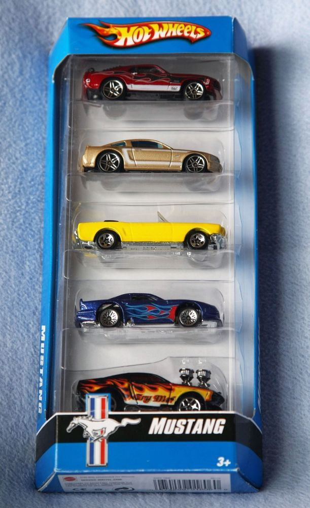 Hot Wheels - Ford Mustang 5-Pack Car Collection Diecast  | eBay