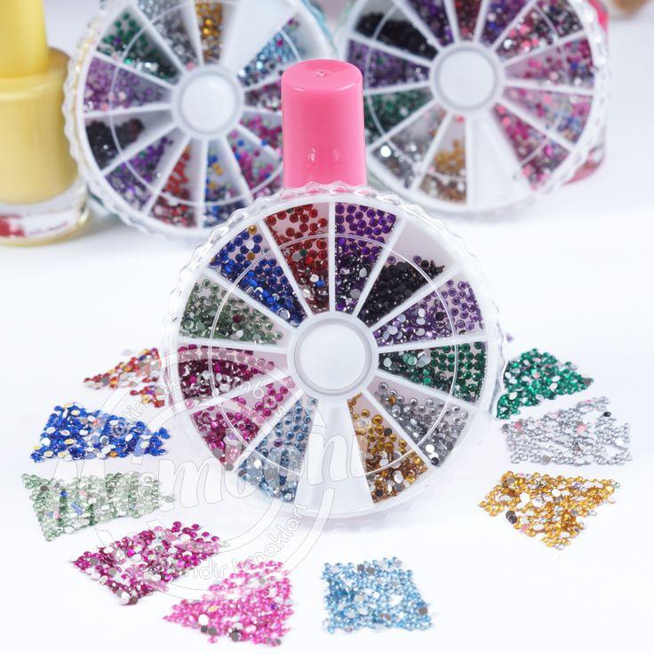 Tırnak Süsleme Renkli Taşları