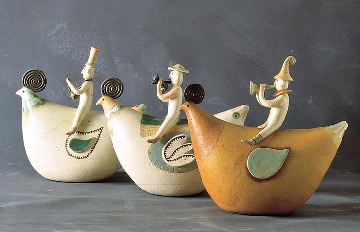 """""""Chiocce e musici / Hens and musicians"""" Ceramiche sonore / Sonorous ceramics"""