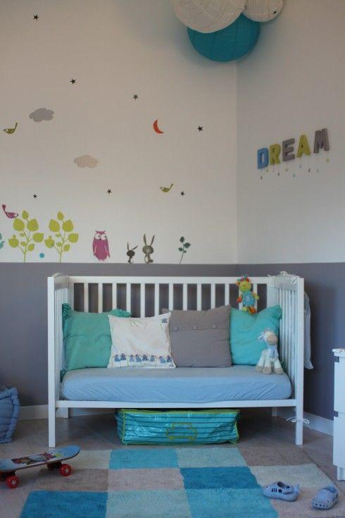 Stunning Chambre Bebe Gris Bleu Vert Ideas - Design Trends 2017 ...