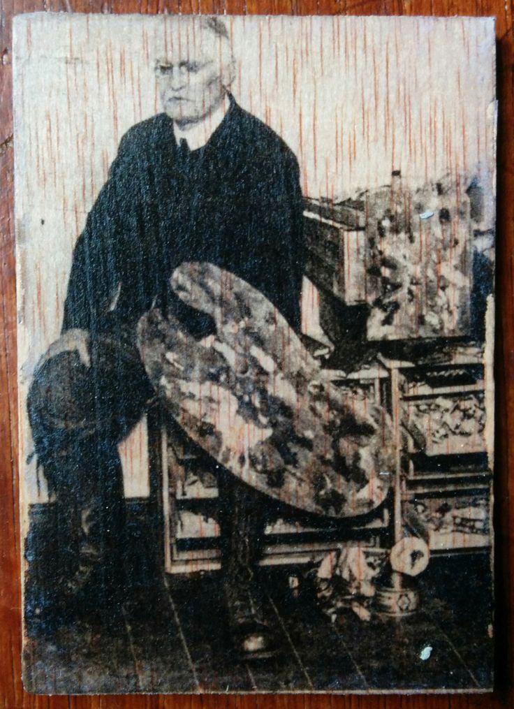 Eduard Munch - Photo transfer on wood. Handmade.