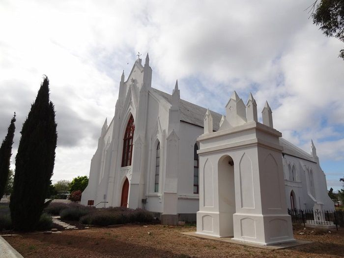 Die kerk in Ladismith het in 1976 status as Nasionale Gedenkwaardigheid bekom. Foto: Danie van der Merwe (Flickr)