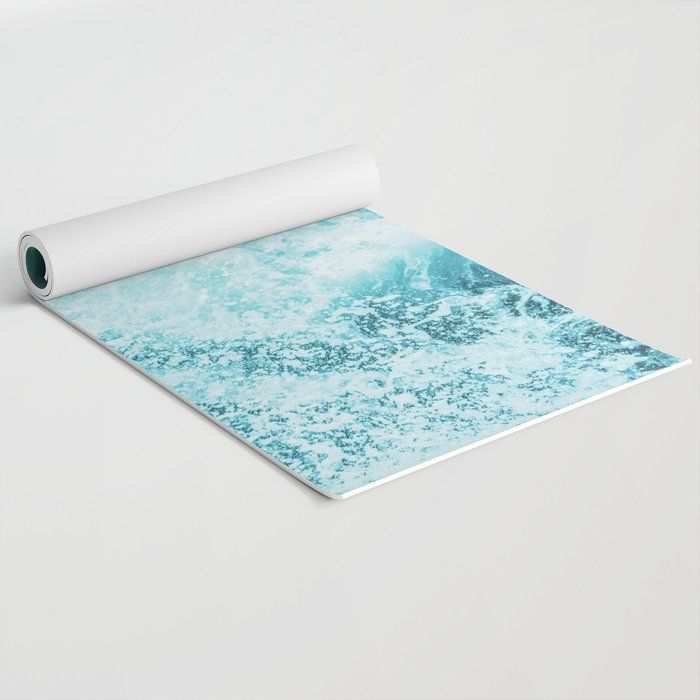 Perfect Sea Waves Travel Yoga Mat By Cascadia 24 X 70 In 2020 Yoga Mat Pattern Travel Yoga Mat Yoga Mat