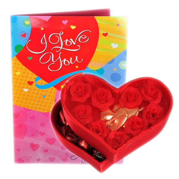 Beautiful Hamper Heart Shape Chocolate's Box And Greeting Card I #LOVEYOU You Make My Days Bright & My Heart Happy Glad you're Mine..,Let our sweetheart feel special as you gift her or him this pretty heart box containing 72 gms heart chocolates. Rs. 998 : http://hallmarkcards.co.in/collections/valentines-hampers/products/valentines-day-best-hamper