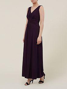 Purple Jersey Maxi Dress