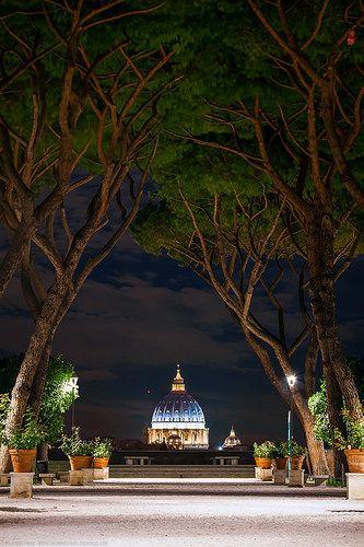 Saint Peter's Basilica, Giardino degli Aranci, Rome, Italy | Flickr - Photo Sharing!