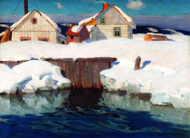 Clarence Gagnon - Winter Sun,1925 Follow the biggest painting board on Pinterest: www.pinterest.com/atelierbeauvoir