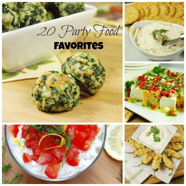 The Kitchen is My Playground: 20 Party Food Favorites {Playground Round-Up}