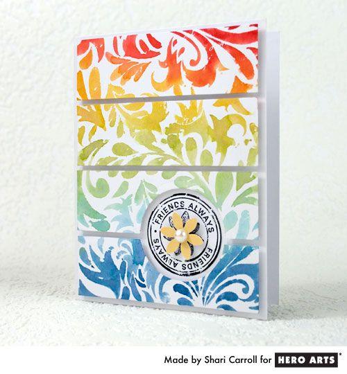 Hero Arts: Rainbows Distressed, Rainbows Card, Card Idea, Videos Tutorials, Crafts Idea, Ink Tutorials, Card Make, Heroes Art, Distressed Ink