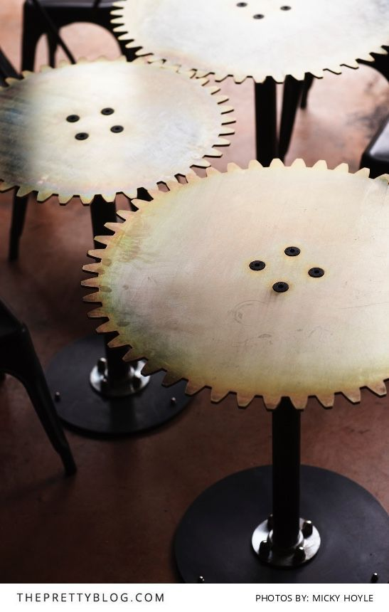Cog style bar stools at Truth HQ's| Interior Design by Haldane | Photos by Micky Hoyle of MartinPhotography