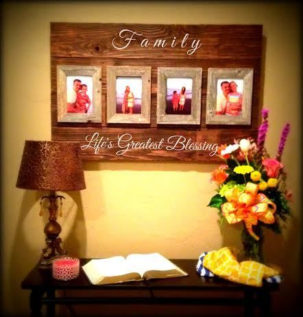 Custom Barnwood Frames - SIGN - LIFE'S GREATEST BLESSINGS WITH 4 - 5X7 FRAMES, flash sale price  $39.99  #custombarnwoodframes (http://www.custombarnwoodframing.com/products/sign-lifes-greatest-blessings-with-4-5x7-frames.html)