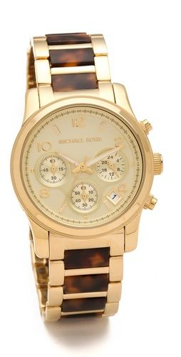 I love Michael Kors watches. This Runway Chronograph Watch is my favorite!