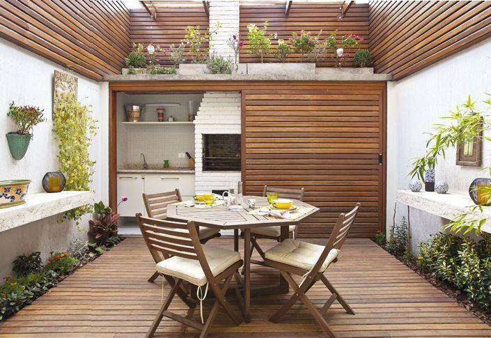 Idéias para varanda gourmet. Neste post vou explicar como transformar os terraços de apartamento em áreas agradáveis para receber, relaxar e praticar um hobby, seja no verão ou no inverno.