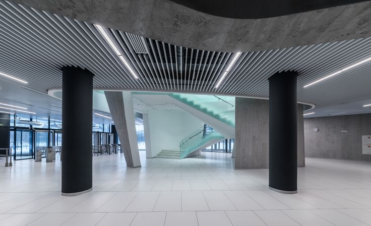 Interiors of the Sports complex «Hockey Town» entrance hall