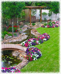 Small Yard Landscape Ideas Designs Backyard Pictures - love the stream