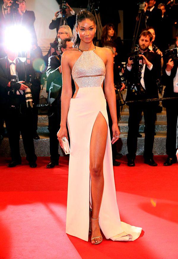 Chanel Iman veste KaufmanFranco no Festival de Cannes