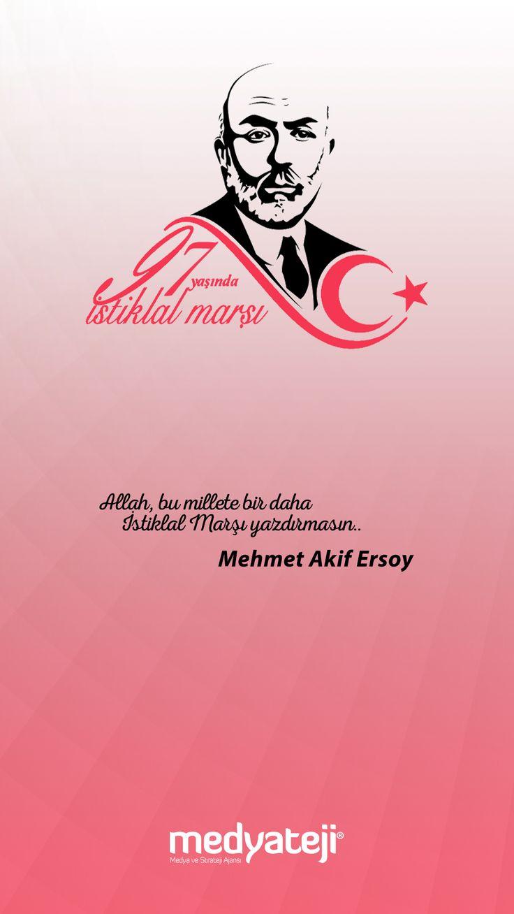 İstiklal Marşı'nın TBMM'de Kabülü'nün 97. yıl dönümünde, başta Milli Şairimiz Mehmet Akif Ersoy olmak üzere, bütün İstiklal kahramanlarımızı rahmet ve minnetle anıyoruz.  #istiklalmarsi #mehmetakifersoy #korkma