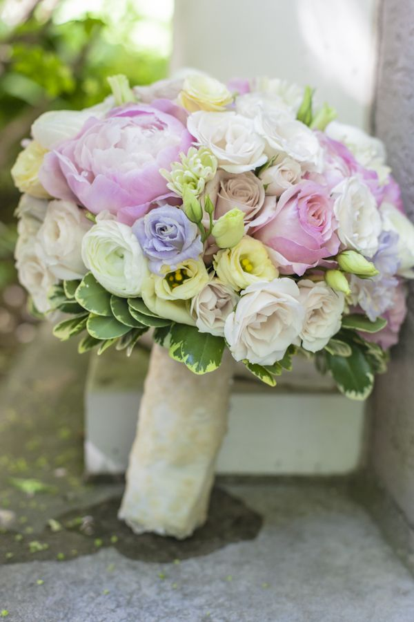 Sweet pastel wedding bouquet. Mimosa Flower Studio