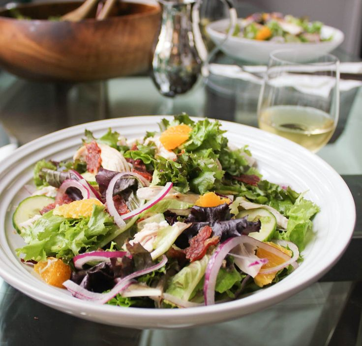 California Salad with Roasted Chicken Recipe and Avocado Dressing