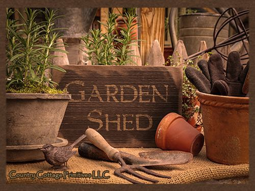 country/garden sheds/farmhouse | garden shed barnwood sign love this time worn garden shed sign made to ...
