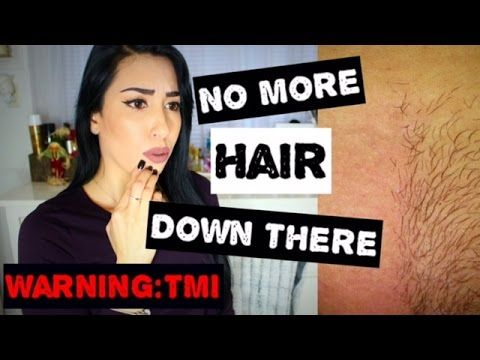 how to get rid of hair down there naturally