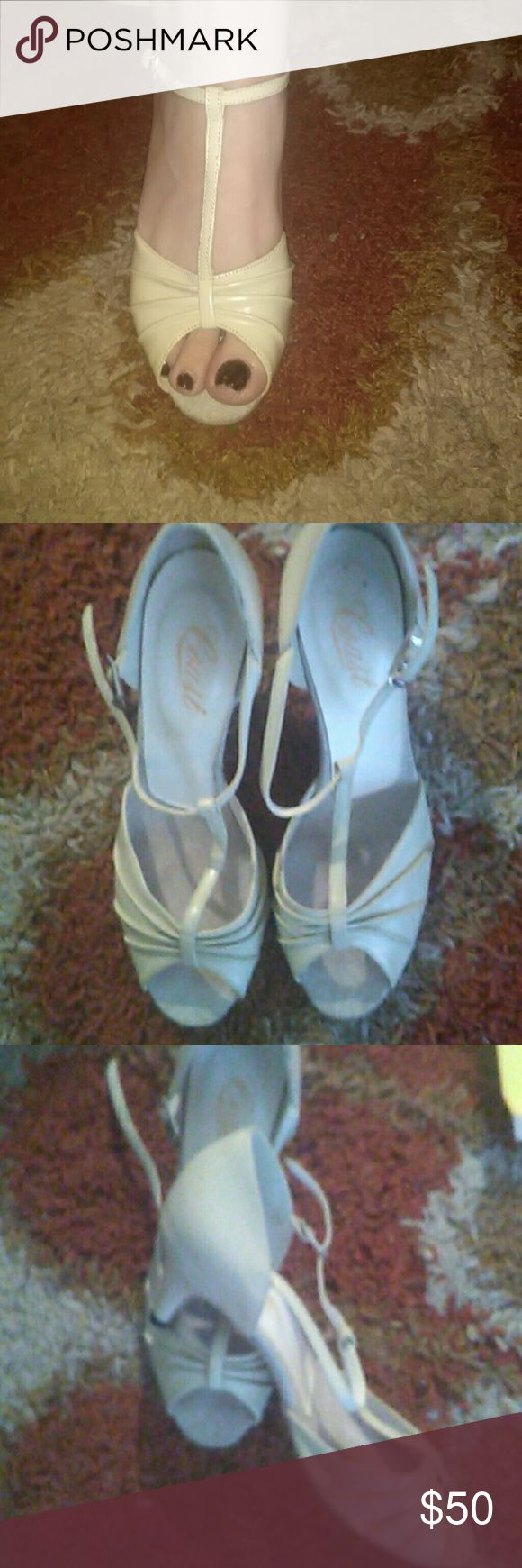 Coast Ballroom Dance shoes Amazing cream dance shoes gently loved originally $150. Coast Shoes Heels