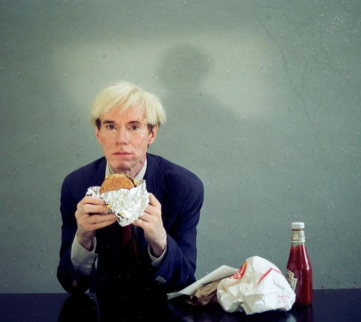 Andy Warhol Eating a Hamburger