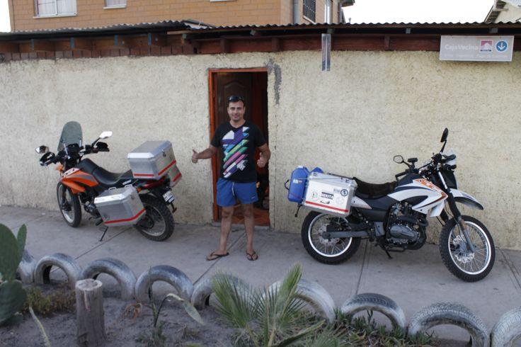 Saliendo de Copiapó de la casa de Francisco Salvo, mi compañero de viaje.