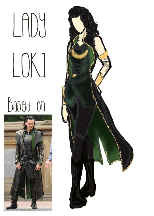 I seriously cant decide what kind of fem Loki i want to do. Its between this, or crossing the movie version with fem Loki from the comics. I kind of really like this one....