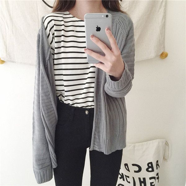 Open-Front Cardigan ($19) ❤ liked on Polyvore featuring tops, cardigans, outfits, open cardigan, cocktail tops, light weight cardigan, evening cardigans and lightweight knit cardigan