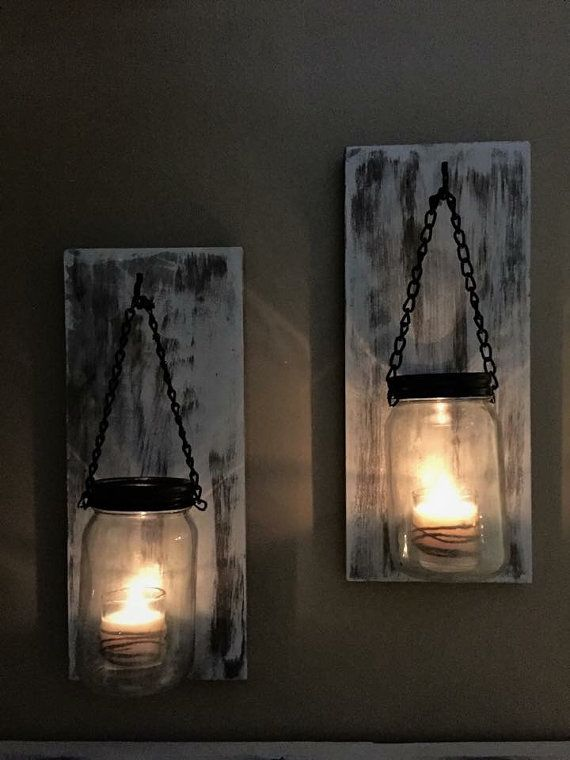 1000+ ideas about Rustic Wall Sconces on Pinterest | Mason jar ...
