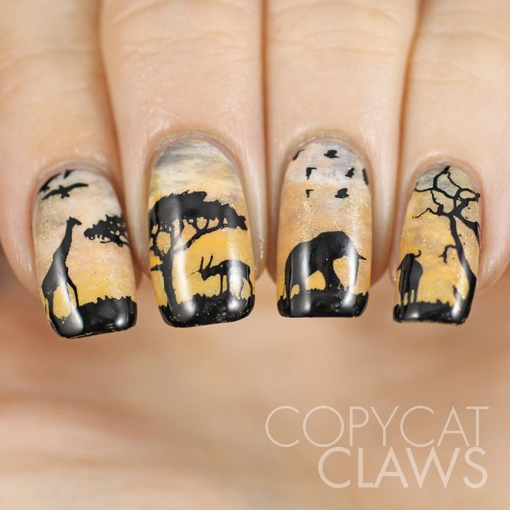 Sunday Stamping – Wildlife Nail Art