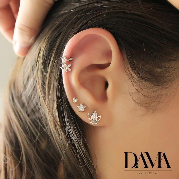 925 Sterling Silver Ear Stud Earrings Crystal Star Pearl Fashion Jewelry UK B1