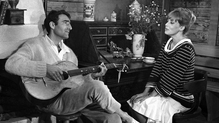 Serge Rezvani et Jeanne Moreau dans Jules et Jim.