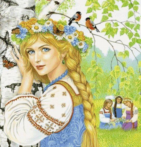 Открытки девушка-весна, картинки крутые аву