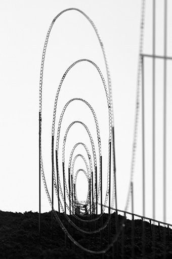 """EUTHANASIA COASTER  """"Euthanasia Coaster"""" is a hypothetic euthanasia machine in the form of a roller coaster, engineered to humanely – with elegance and euphoria – take the life of a human being. Riding the coaster's track, the rider is subjected to a series of intensive motion elements that induce various unique experiences: from euphoria to thrill, and from tunnel vision to loss of consciousness, and, eventually, death."""