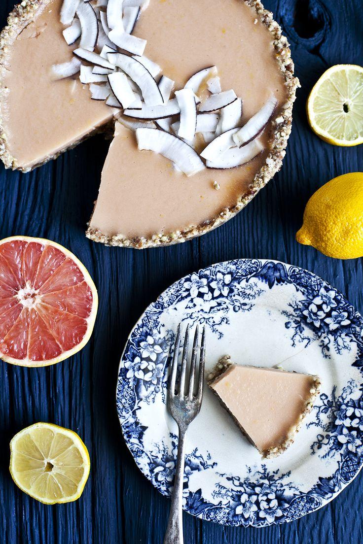 Tarte au citron & pamplemousse – vegan-