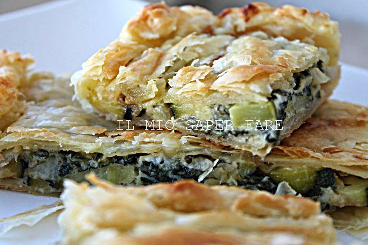 Torta salata crescenza e zucchine