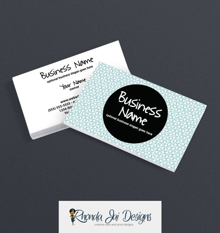 57 best etsy business cards images on pinterest business card business card designs 2 sided printable business card design modern chic 5 by rhondajai reheart Image collections