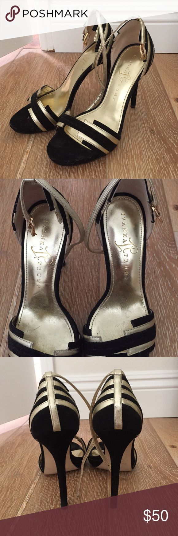 Sale!💗Suede and gold heels Ivanka Trump Bought at Norstroms, sexy heels for a night out excellent condition wore only once. Ivanka Trump Shoes Heels