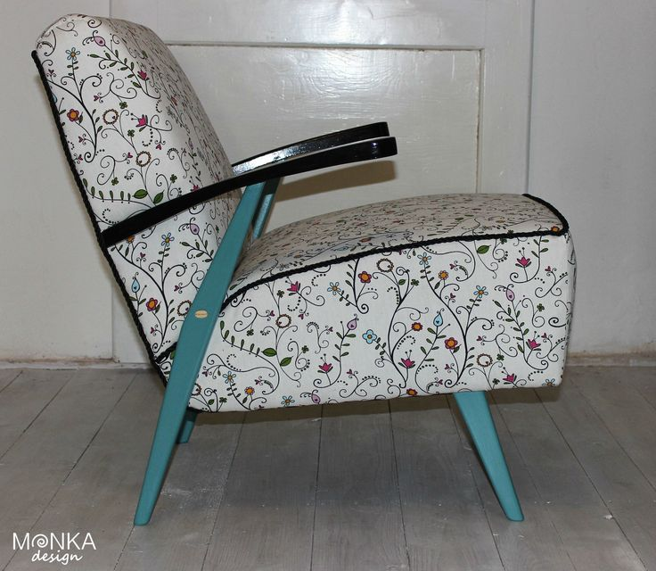 Rededsigned armchair, Boho style