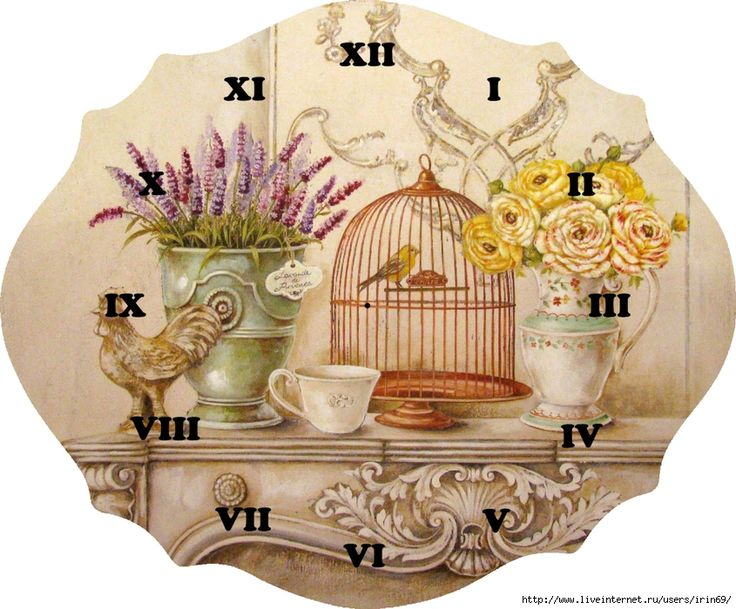 .Lovely Clock face. copy to Word doc & enlarge.