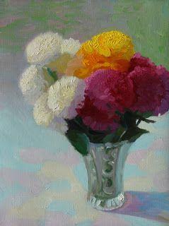 "Balls of Colour by Charmaine P Jackson Oil on 8""x6"" linen"
